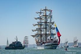 Mexican barque Cuauhtemoc, Venezuelan barque, Simon Bolivar, Principe Perfeito and Santa Maria Manuela