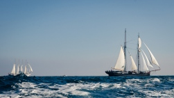 Santa Maria Manuela and Dutch topsail schooner Wylde Swan underway RDV2017