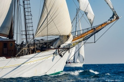 French schooner Etoile. Race start RDV2017