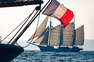 Blue Clipper and Etoile, race start RDV 2017