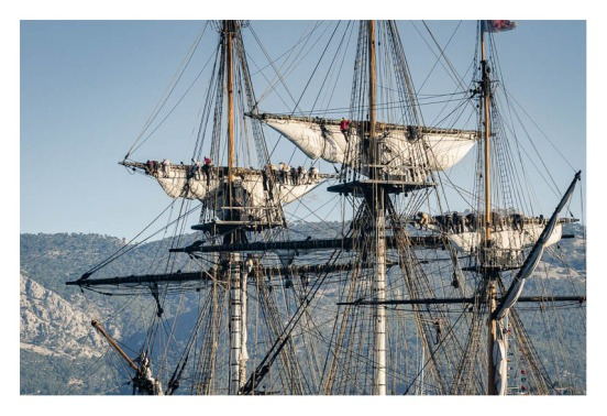 Furling topsails, l'Hermione, Toulon