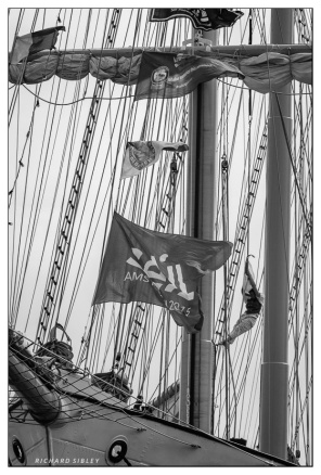 An Acrobat, handy to have on board when the burgee gets stuck. Santa Maria Manuela