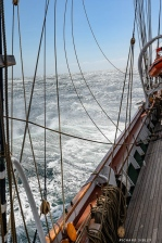Strong winds and rough seas