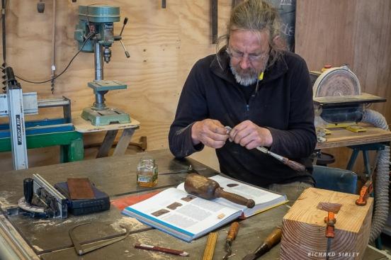 Ron Groenestein working on the Donkey head