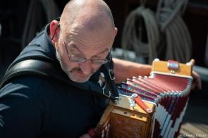 Rob on accordion