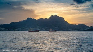 Sunset Mindelo harbour