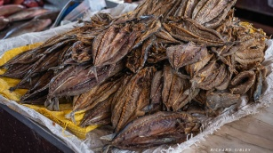Dried fish, Mindelo market