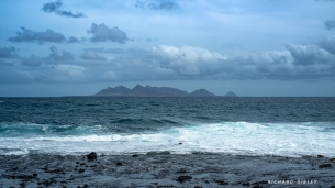 The islands of Santa Luzia, and Ilhéu Branco. Picture taken from the beach at Calhau, Sao Vicente